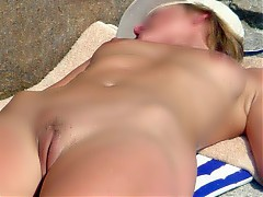 Close-up photos from nude beach