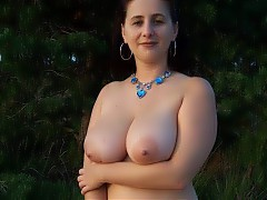 Chubby matures outdoor